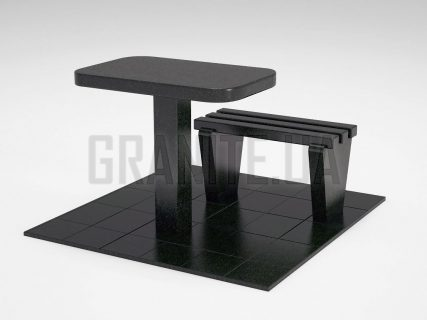 Лавка + Стол LS-01 Букинский габбро