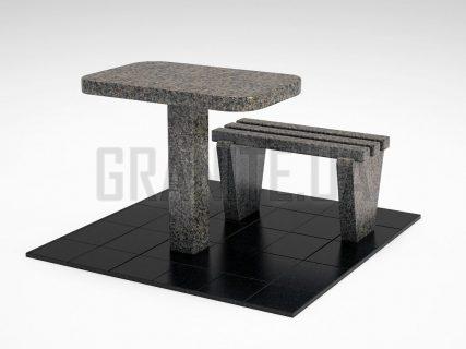 Лавка + Стол LS-01 Маславский гранит