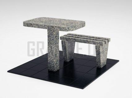 Лавка + Стол LS-01 Танский гранит
