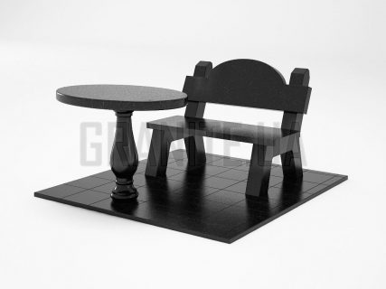 Лавка + Стол LS-03 Букинский габбро