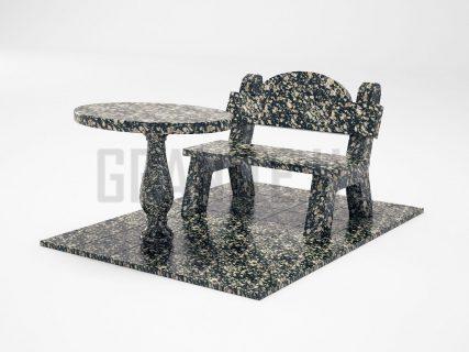 Лавка + Стол LS-03 Корнинский гранит