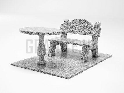 Лавка + Стол LS-03 Покостовский гранит