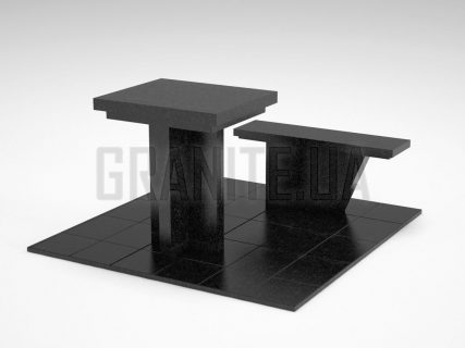 Лавка + Стол LS-04 Букинский габбро