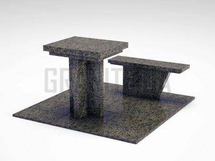 Лавка + Стол LS-04 Маславский гранит