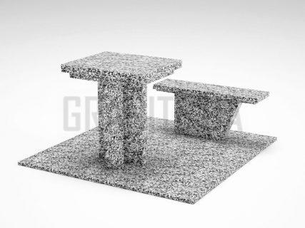 Лавка + Стол LS-04 Покостовский гранит