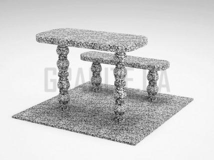 Лавка + Стол LS-05 Покостовский гранит