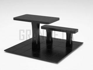 Лавка + Стол LS-06 Букинский габбро