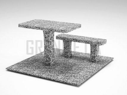 Лавка + Стол LS-06 Покостовский гранит