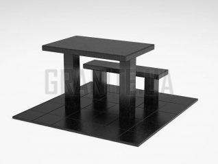 Лавка + Стол LS-07 Букинский габбро