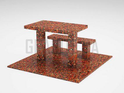 Лавка + Стол LS-07 Капустинский гранит