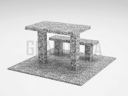 Лавка + Стол LS-07 Покостовский гранит