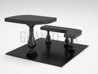 Лавка + Стол LS-09 Букинский габбро