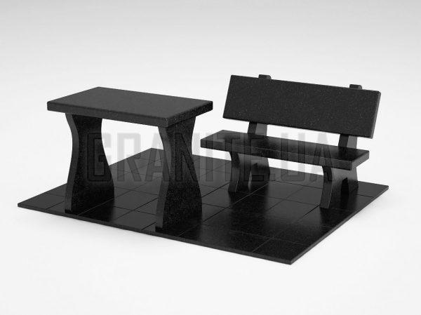 Лавка + Стол LS-10 Букинский габбро