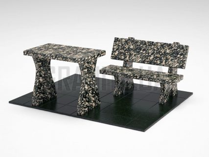 Лавка + Стол LS-10 Корнинский гранит