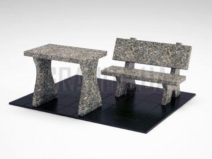 Лавка + Стол LS-10 Танский гранит
