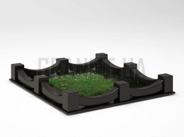Могильная ограда OG-09 Букинский габбро