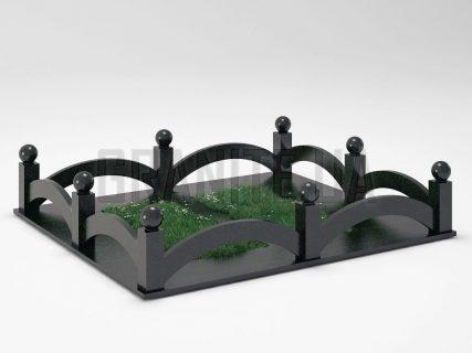 Могильная ограда OG-18 Букинский габбро