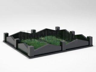 Могильная ограда OG-19 Букинский габбро