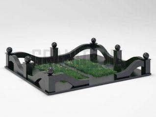 Могильная ограда OG-23 Букинский габбро