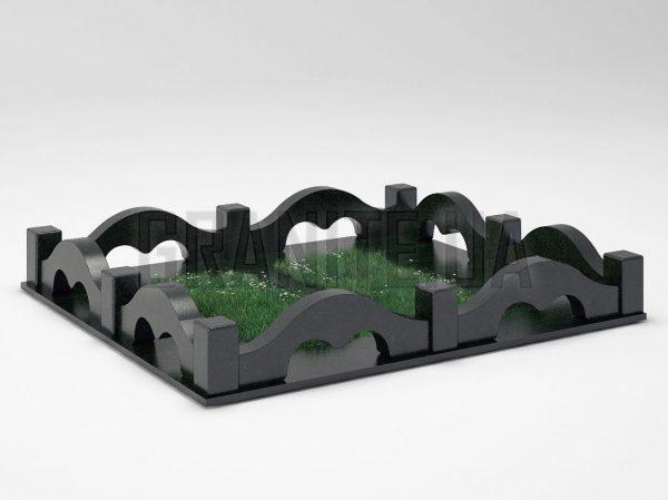 Могильная ограда OG-26 Букинский габбро