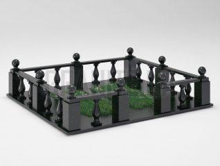 Могильная ограда OG-28 Букинский габбро