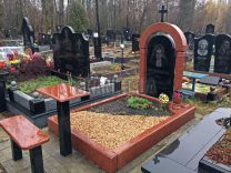 Столики и лавки на кладбище фото (4)