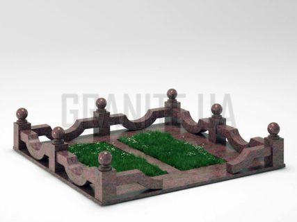 Могильная ограда OG-01 Кишинский гранит