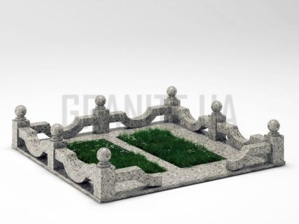 Могильная ограда OG-01 Константиновский гранит
