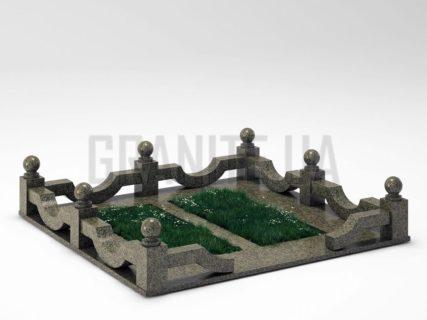 Могильная ограда OG-01 Маславский гранит