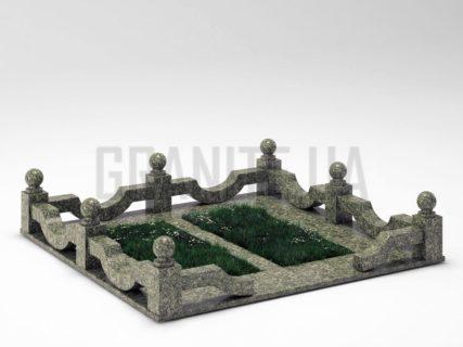 Могильная ограда OG-01 Роговский гранит
