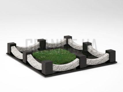Могильная ограда OG-09 Покостовский гранит