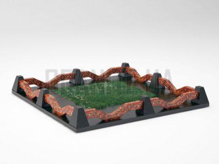 Могильная ограда OG-11 Капустинский гранит