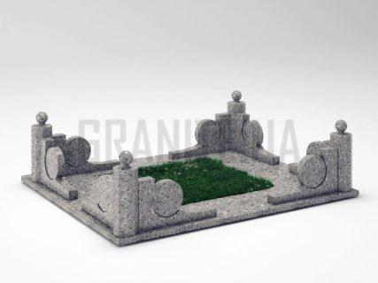 Могильная ограда OG-13 Константиновский гранит