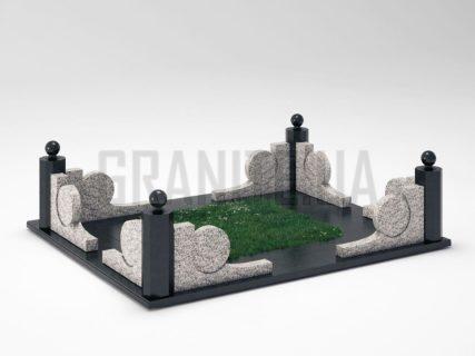 Могильная ограда OG-13 Покостовский гранит