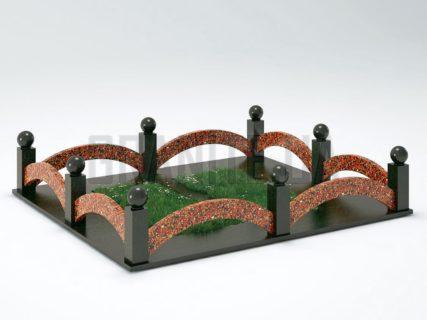 Могильная ограда OG-18 Капустинский гранит
