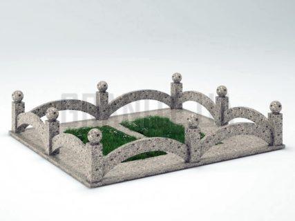 Могильная ограда OG-18 Константиновский гранит
