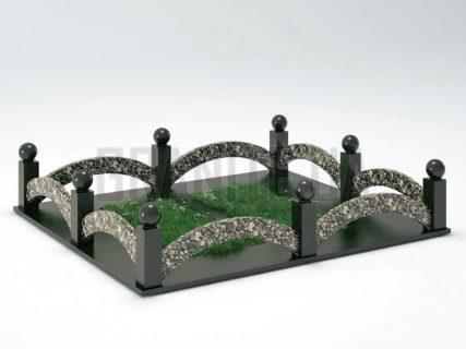 Могильная ограда OG-18 Корнинский гранит