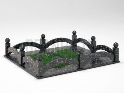 Могильная ограда OG-18 Осныковский лабрадорит