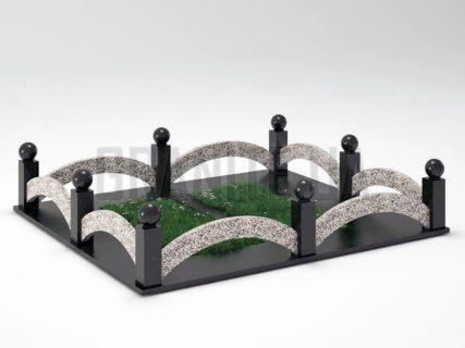 Могильная ограда OG-18 Покостовский гранит