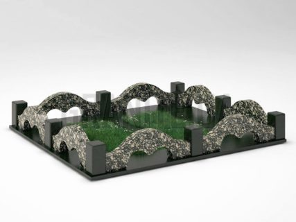 Могильная ограда OG-26 Корнинский гранит