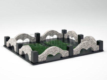 Могильная ограда OG-26 Покостовский гранит