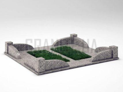 Могильная ограда OG-31 Константиновский гранит
