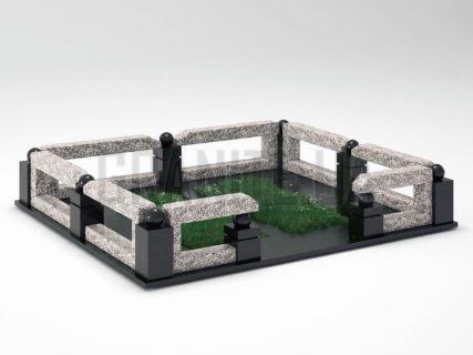 Могильная ограда OG-33 Покостовский гранит